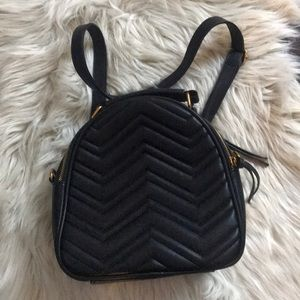 Handbags - Chevron Quilted Small Backpack